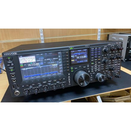 Used Kenwood TS-990S All Mode Flag Ship 200W HF Transceiver Boxed with Speaker and Desk Microphone