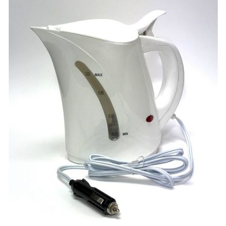 12V Kettle with Cig Plug (1000ml) - For Car, Boat, Camping or Motorhome