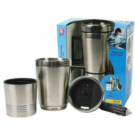 All Ride 12v Electric Mug (0.5 Ltr) (Stainless Steel)