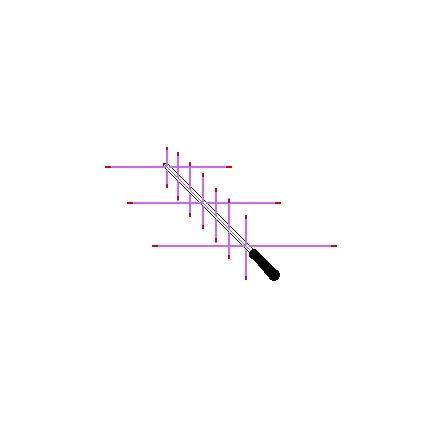 ARROW II 146/437-10BP (WITHOUT DUPLEXER) HANDHELD PORTABLE SATELLITE ANTENNA