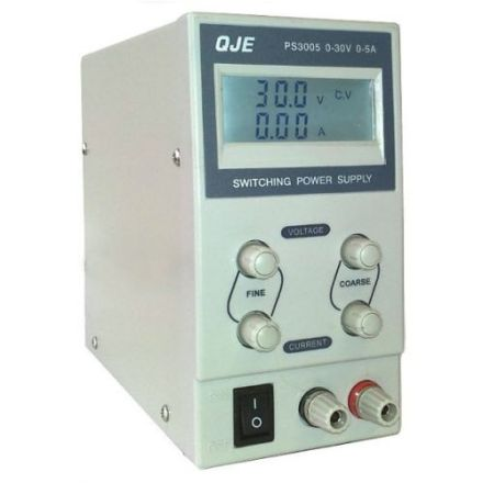 QJE PS3005 (0-5 AMP/0-30V) SWITCH MODE POWER SUPPLY
