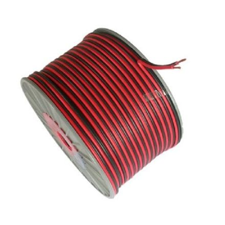 RED/BLACK DC CABLE 25AMP 100M