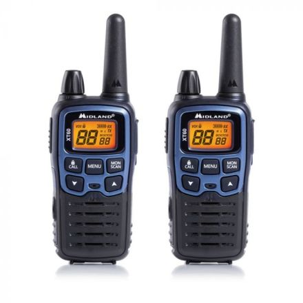 MIDLAND XT60 PMR446 TWIN PACK TRANSCEIVERS