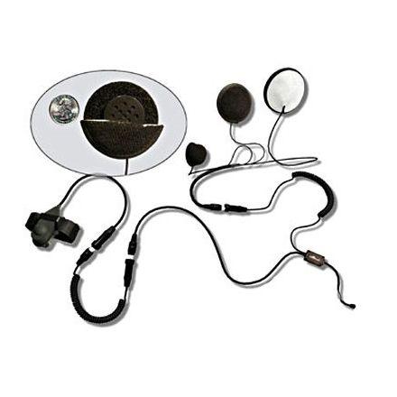 Motocomm FGL756 Helmet Headset Mini (Finger) PTT with Long Cable