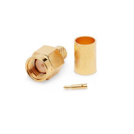 SMA Crimp Type Plug (6mm) (For RG58) (PREMIUM)
