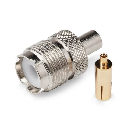 SO239 Crimp Type Plug (6mm) (For RG58) (Gold Plated Pin)