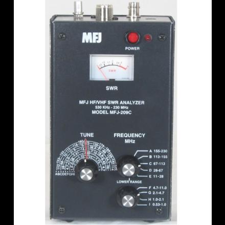 MFJ-209C - HF/VHF/220MHzSWR Anlyzr,NoLCDdisp