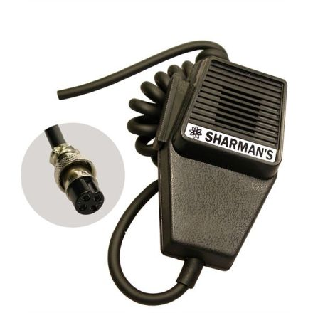 SHARMAN'S DM520P2 COFFIN MIC WITH 4PIN PLUG (UNIDEN WIRING)