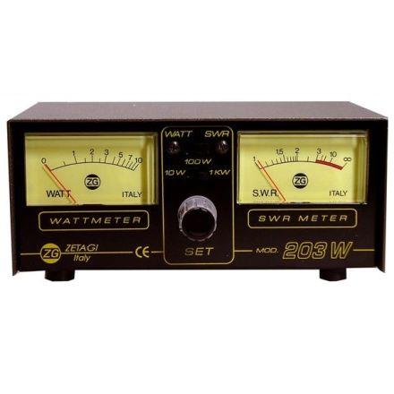 ZETAGI 203 SWR/WATT POWER METER 3-200MHZ