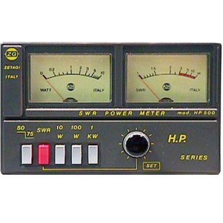 ZETAGI HP500 SWR/PWR METER TWIN WINDOW