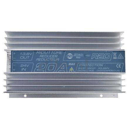 ZETAGI R20 VOLTAGE REDUCER 24-12V DC, 20 AMP MAX