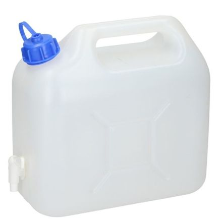 DISCONTINUED PLASTIC WATER CAN 5LITRE WITH TAP