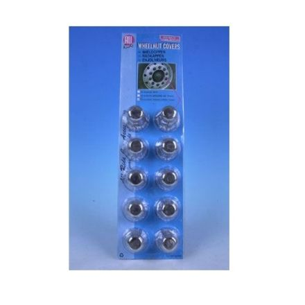 ALL RIDE WHEEL NUT COVERS 33mm CHROME