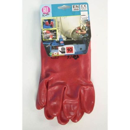 ALL RIDE WORK GLOVES PVC RED