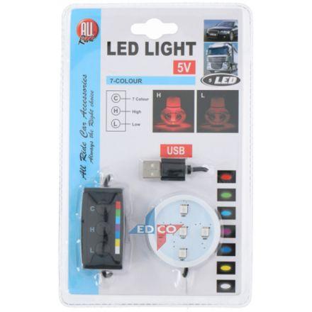 FRESHENER BASE - LED 'LIGHT-UP' (7-COLOUR DIMMER WITH USB)