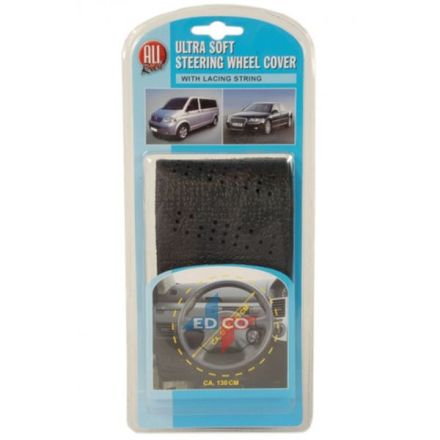 STEERING WHEEL COVER WITH EASY LACE-ON SETUP (43-48CM)