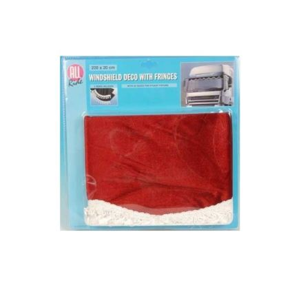 ALL RIDE WINDSHIELD DECO AND FRINGES 220X20CM RED/WHITE