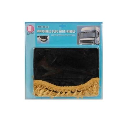 ALL RIDE WINDSHIELD DECO AND FRINGES 220X20CM BLACK/GOLD