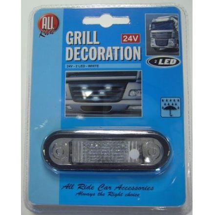 ALL RIDE 24V 2 LED WHITE TRUCK LIGHT GRILL DECORATION