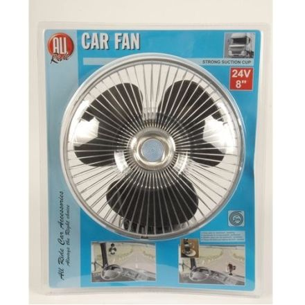 ALL RIDE 24V / 8 INCH CAR FAN WITH STRONG SUCTION CUP