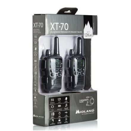 MIDLAND XT70 PMR446 TWIN PACK TRANSCEIVERS
