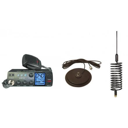 "Deluxe CB Radio Kit - Intek M-899 CB Radio + Black Tornado Antenna + 7"" Mag Mount"