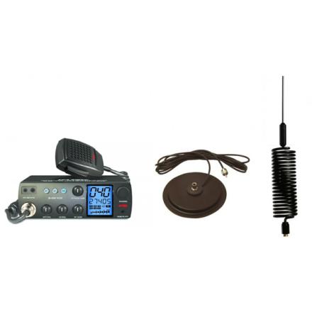 "Deluxe CB Radio Kit - Intek M-899 CB Radio + Black Tornado Mini Antenna + 7"" Mag Mount"