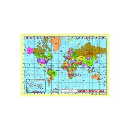 WPMM-Map A2 Size World Prefix Map