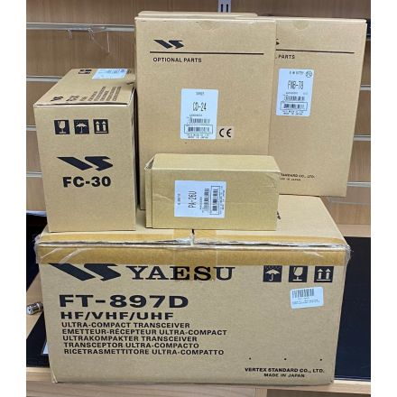 SOLD! Used FT-897 with Batteries,CD24,PA26 & FC30