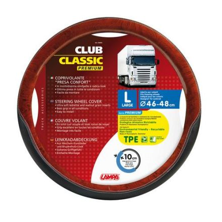Lampa Club Classic Steering Wheel Cover 46-48cm (Walnut)
