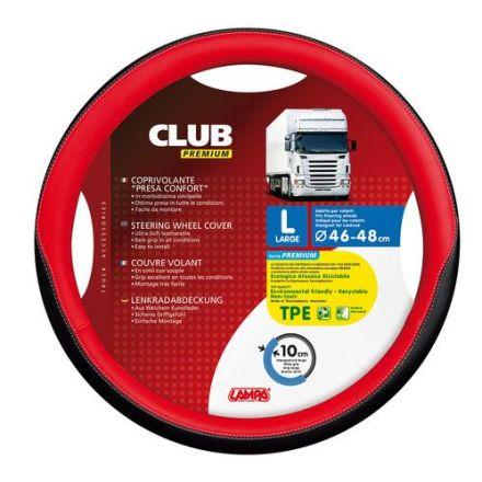 Lampa Club Premium Steering Wheel Cover 46-48cm (Red)