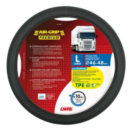 Lampa Air Grip Premium Ventilated Steering Wheel Cover 46-48cm (Black)