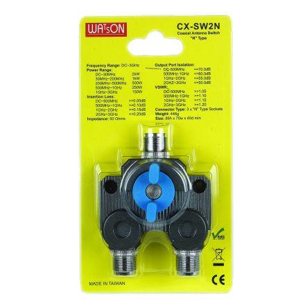 Watson CX-SW2N - 2 Way N-Type Coax Switch