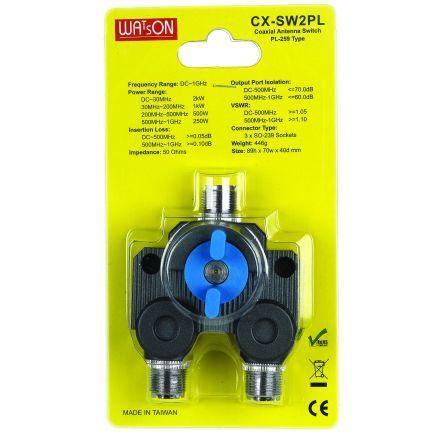 Watson CX-SW2PL - 2 Way SO239 Coax Switch