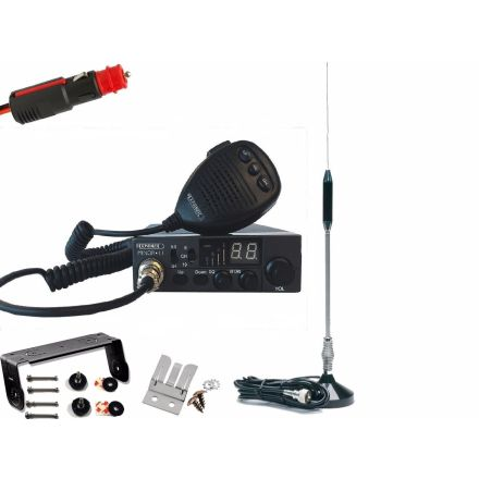 CB Radio Kit - Moonraker Minor II Plus 80ch 12v/24v CB Radio + Micro Mag Antenna + U-PLUG