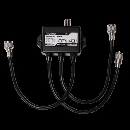 COMET CFX-431A - Triplexer for 1.3-150/350-500/840-1400MHz