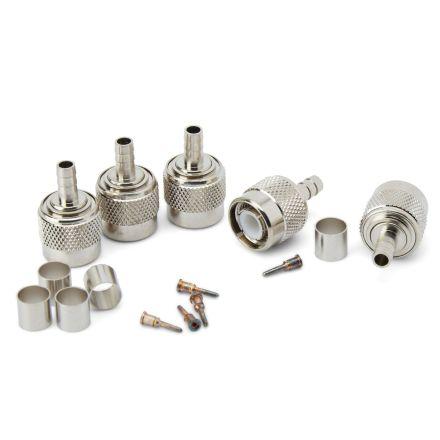 TNC Crimp Type Plug (6mm) (For RG58) (5 Pc/Pk)