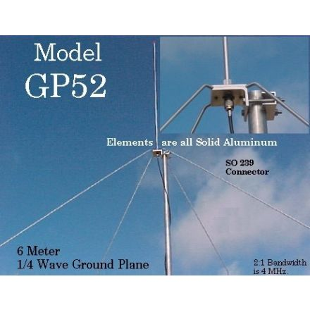 Arrow Antenna GP-52 - 1/4 Wave Ground Plane (6 Metres)