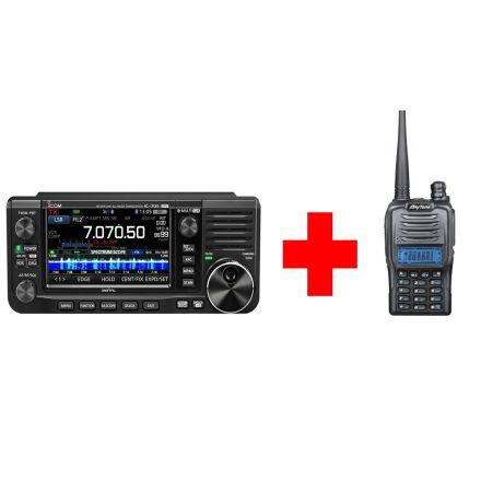 Icom IC-705 Bundle All mode Portable Radio (With free 4m AT-288 Handie )