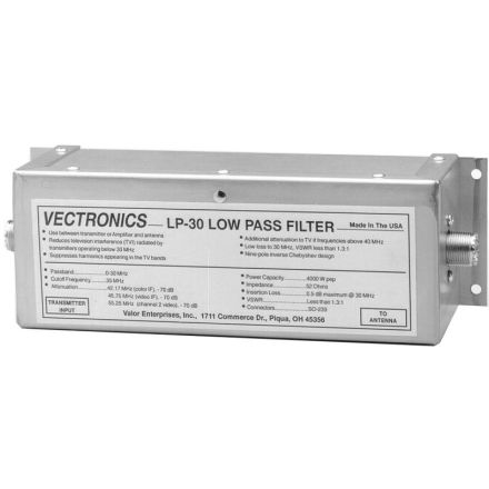 Vectronics LP-30 - 1500W Low Pass Filter