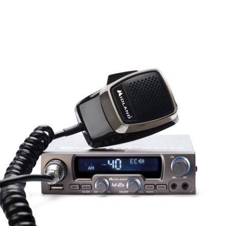 Midland M-20 New mobile CB radio with USB/Bluetooth feature