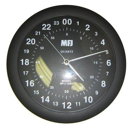 MFJ-105D* - 12 inch 24 Hour. Quartz wall clock