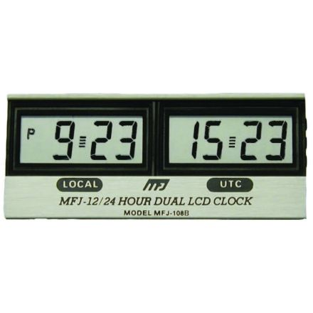 MFJ-108B* - LCD 12/24 Dual Clock