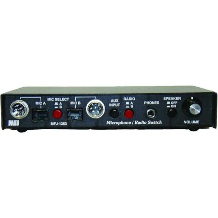 MFJ-1263 - Mic/Rig Sw - 2 Mic in x 2 Rig out