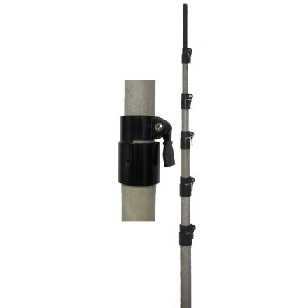 MFJ-1908HD - 50ft, Extra-strong FG mast, w/qck Clamps