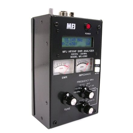 MFJ-259D - HF/VHF/220MHz SWR Analyser 530kHz to 230 MHz