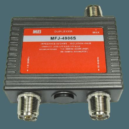 MFJ-4906S* - 6M/HF duplexer, 600W - SO-239