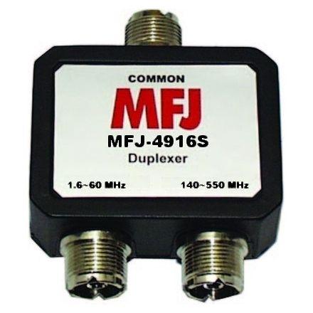 MFJ-4916S* - HF-60Mhz/140-520 MHz duplexer - SO-239