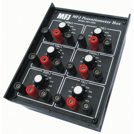 MFJ-5900 - 6 Variable Resistors Substitute Box