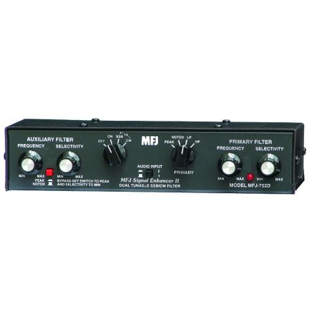 MFJ-752D - Dual Tunable CW Audio Filter